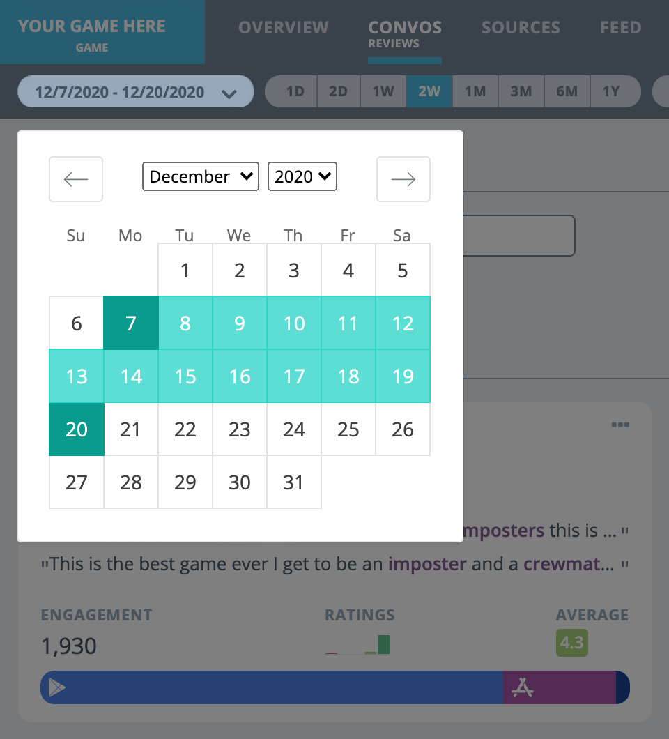 Spiketrap Review Insights Date Selection